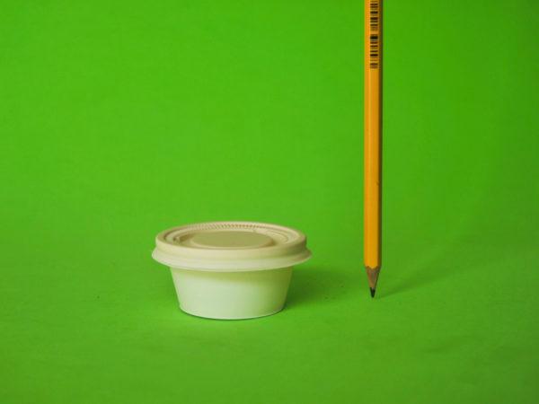 Copa salsera de almidón de maíz