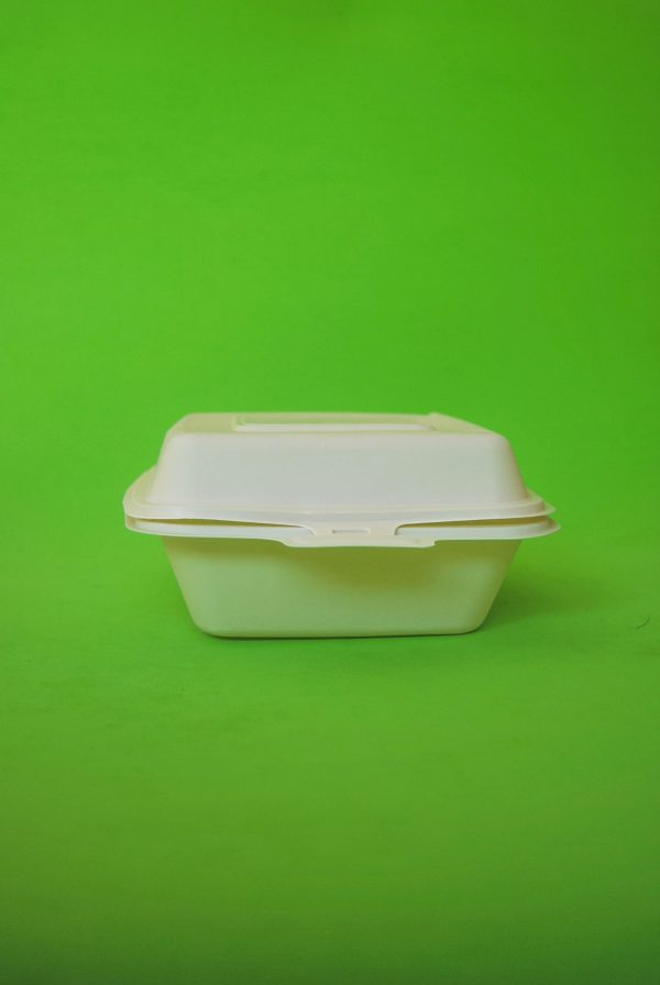 Contenedor almidón de maíz biodegradable