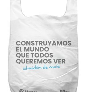 Funda bolsa almidon de maiz biodegradable