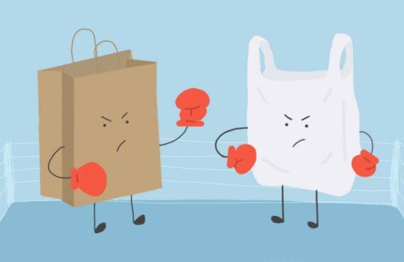 bolsas de papel versus de plastico