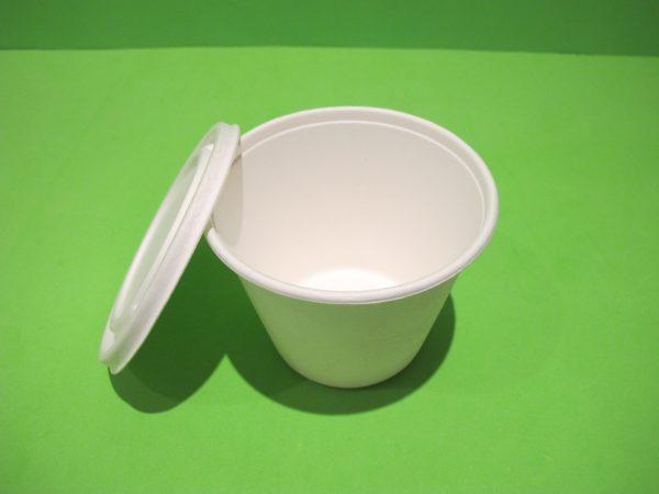 recipiente 450 ml bagazo de caña biodegradable