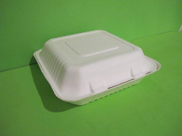 contenedor bagazo de caña biodegradable