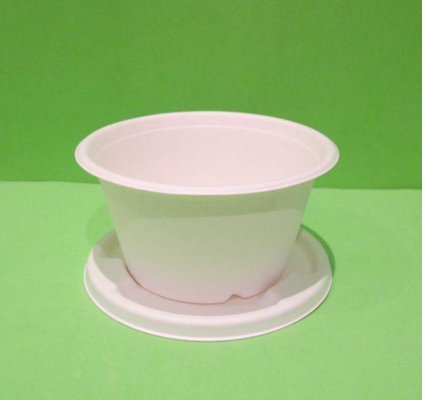bowls 16 oz con tapa bagazo de caña