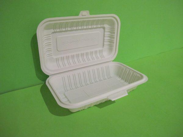 Contenedor rectangular almidon de maiz 2