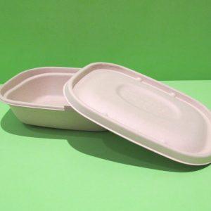 bowl rectangular 32 oz bagazo de trigo