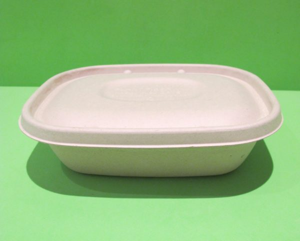 bowl rectangular 32 oz bagazo de trigo 2