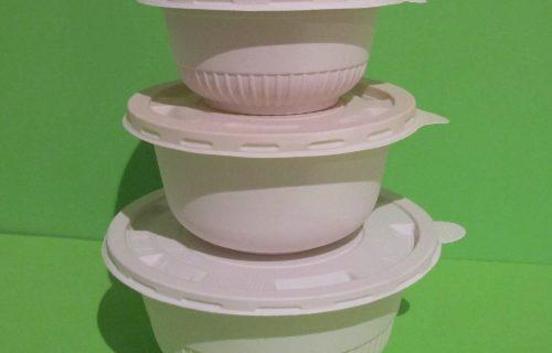 Bowls 14 ,16 y 32  oz + tapa  – Almidón de Maíz