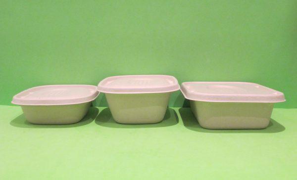 Bowl 32, 48 y 60+ tapa rectangular Bagazo de trigo