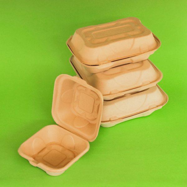 contenedores bagazo de trigo