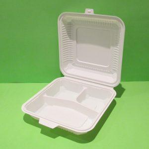 contenedor 9 pulgadas con divisiones almidon de maiz
