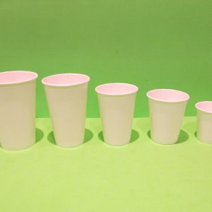 Vasos de papel bebidas frias