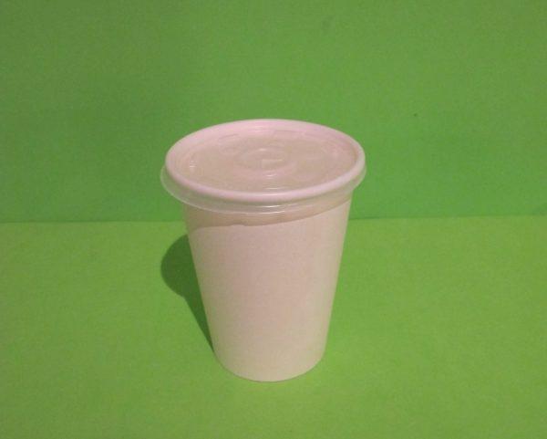 Tapa PET vasos papel bebidas fria