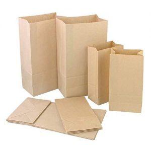 Funda bolsa de papel kraft delivery