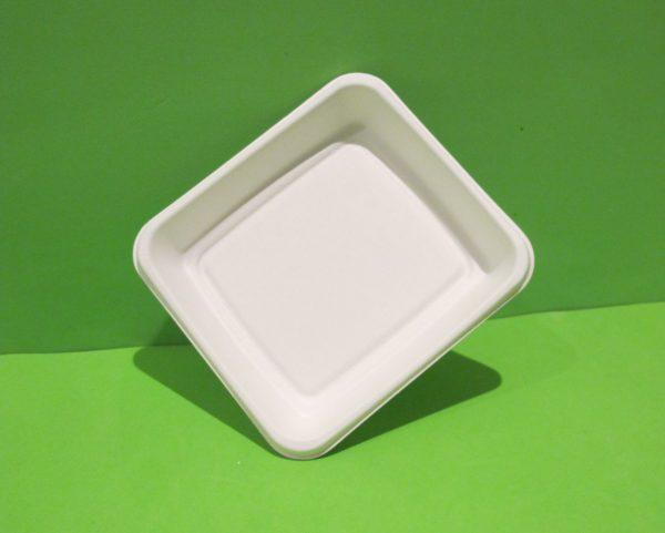 Bandeja plato rectangular bagazo de caña