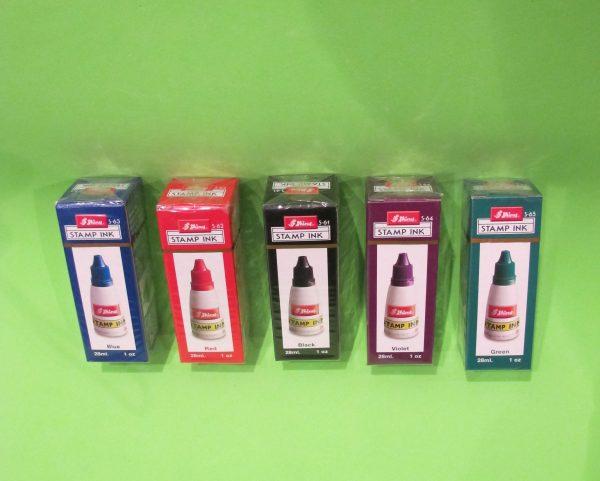 colores de tinta sello madera