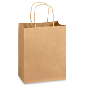 fundas de papel kraft tipo shopping