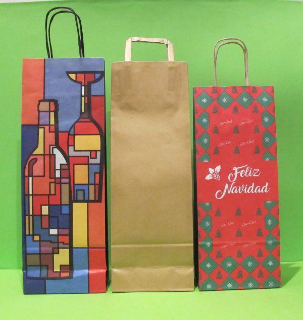 fundas para botellas de papel navideñas