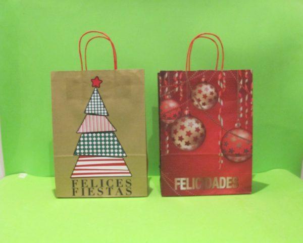 fundas de regalos y licor de papel navideñas