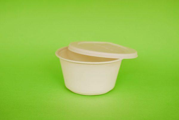 Bowl con tapa de almidon de maiz