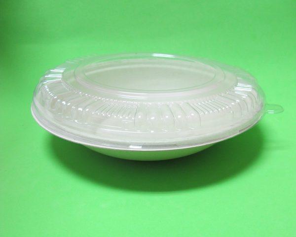 Bowl con tapa transparente - Bagazo de trigo