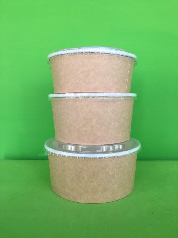 tazon base ancha papel kraft liner blanc